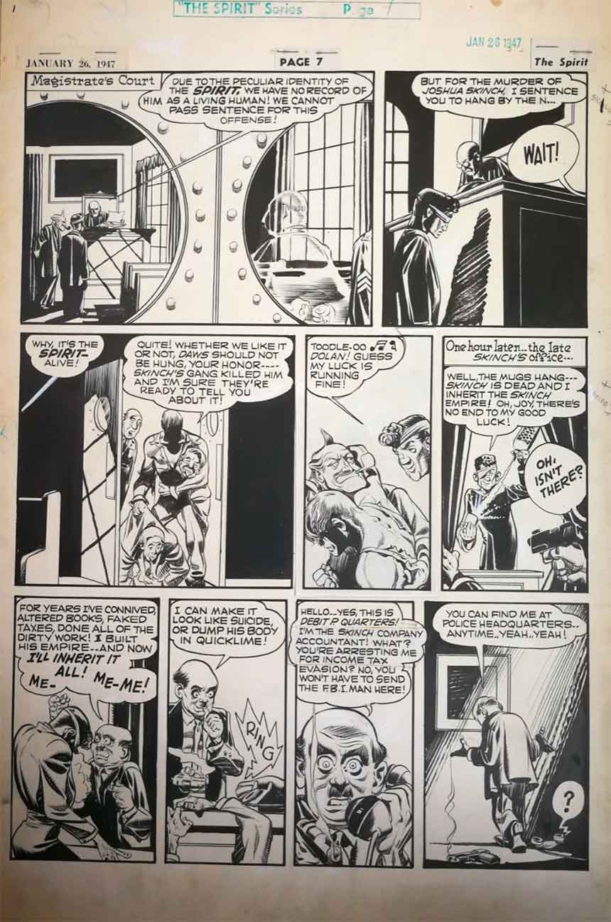 will-eisner-spirit-original-art