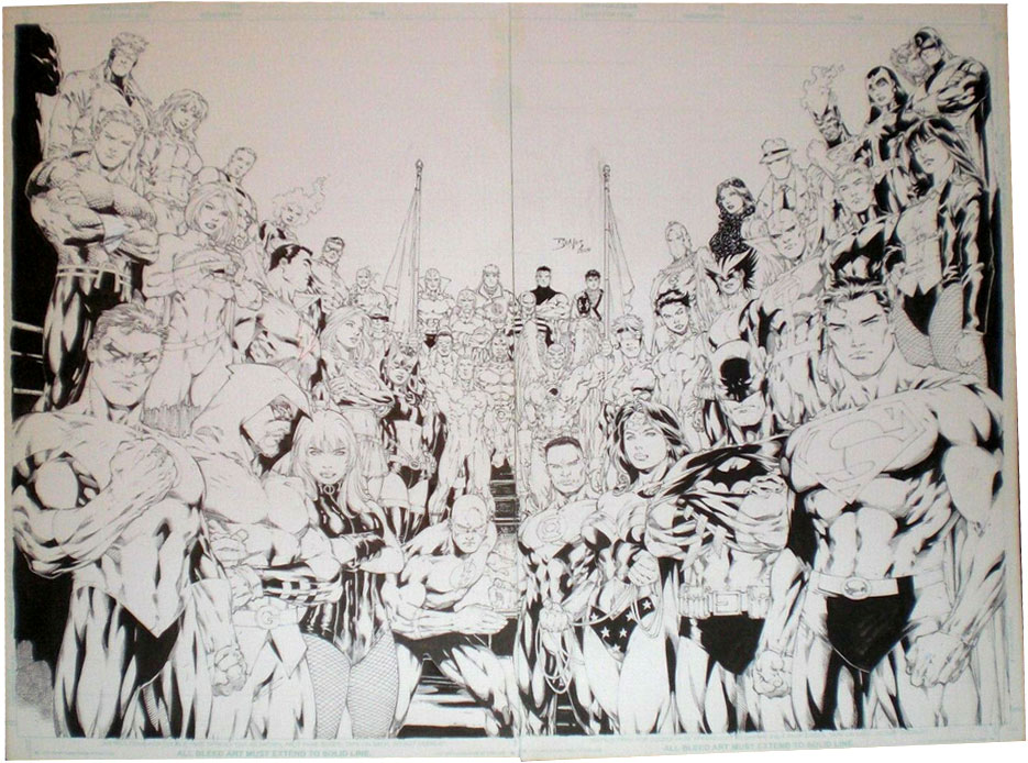 ed-benes-original-comic-art