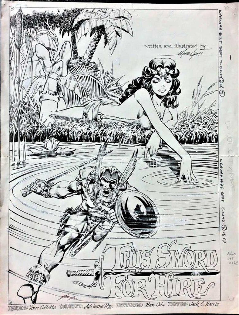 warlord-original-comic-art