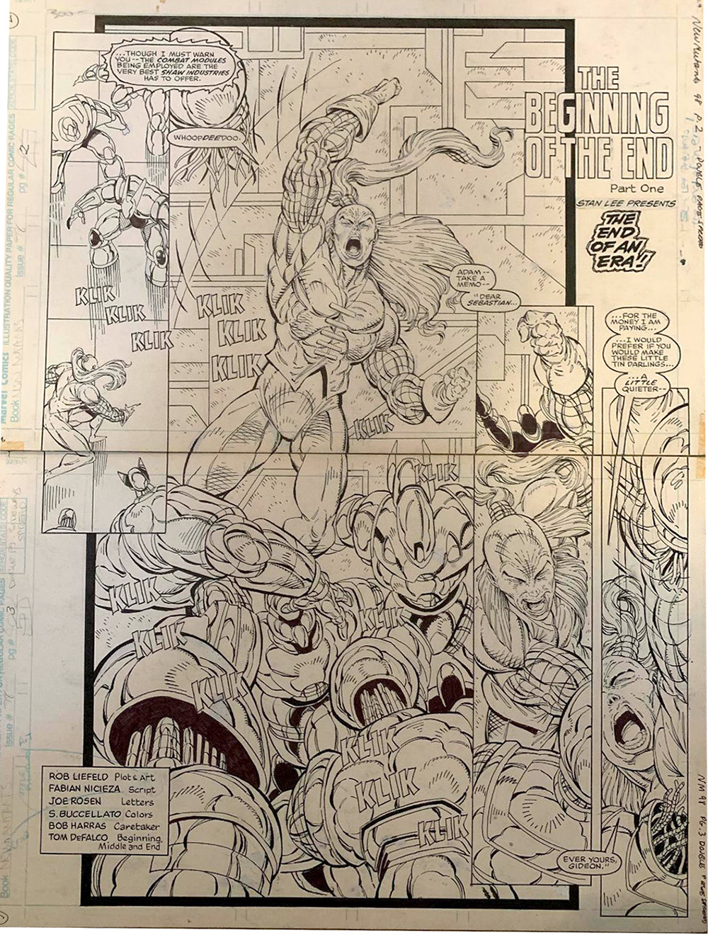 rob-liefeld-original-comic-art