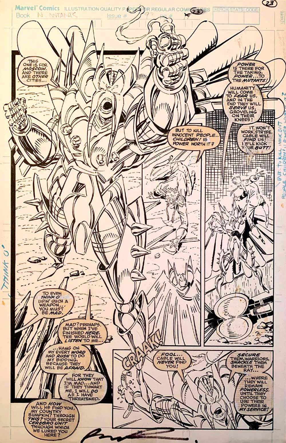 rob-liefeld-new-mutants-original-comic-art