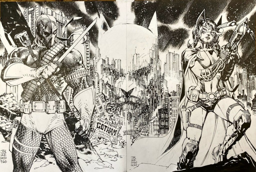 Jim Lee DC Characters Original Art for Charity – auctions 11-20